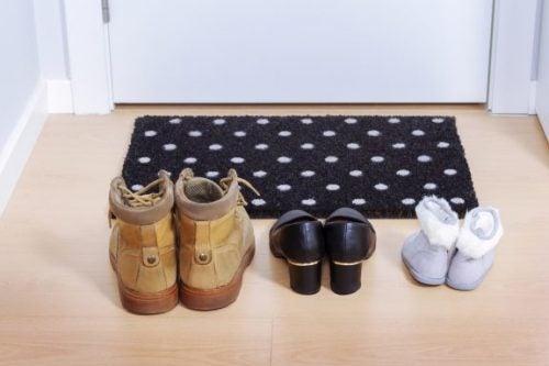 shoes in front of door
