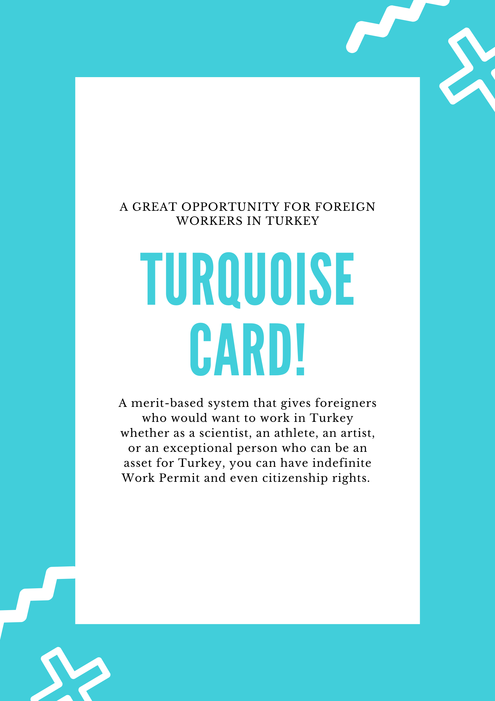 Turquoise Card<br>