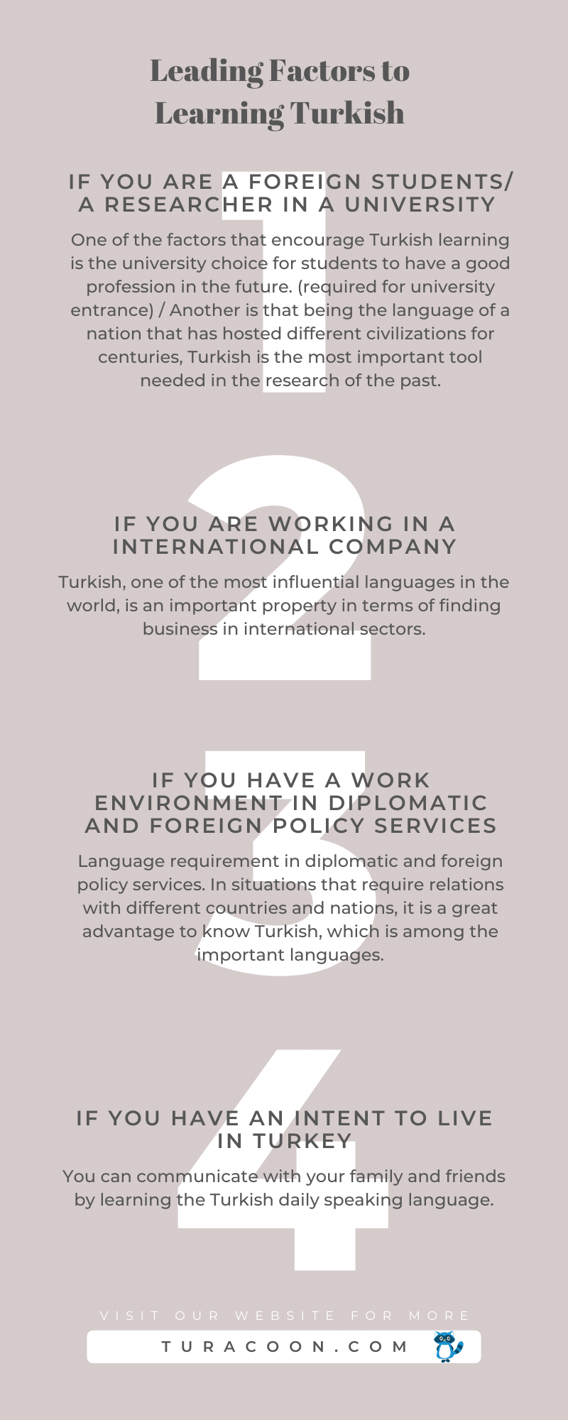 leading factors to learning turkish