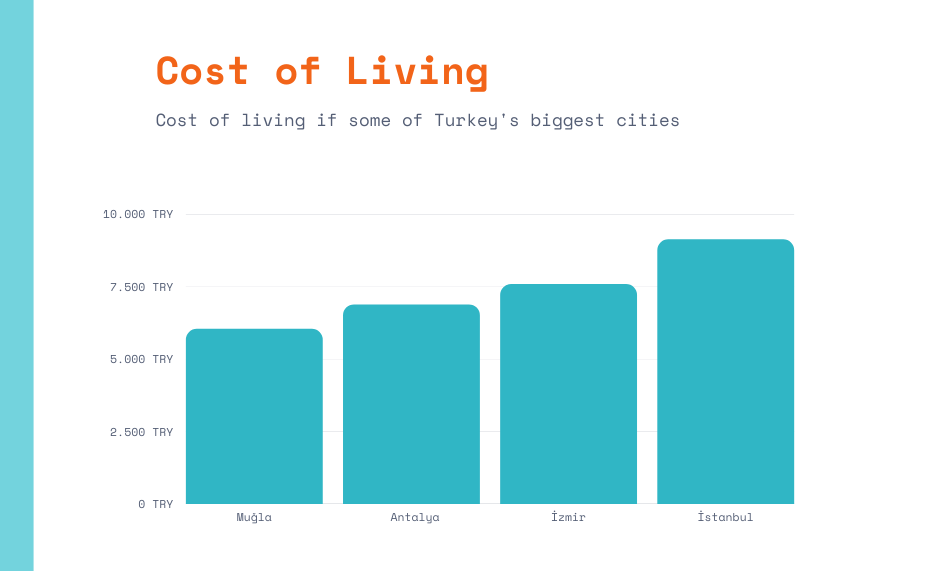 Cost of living in Turkey's biggest cities<br>